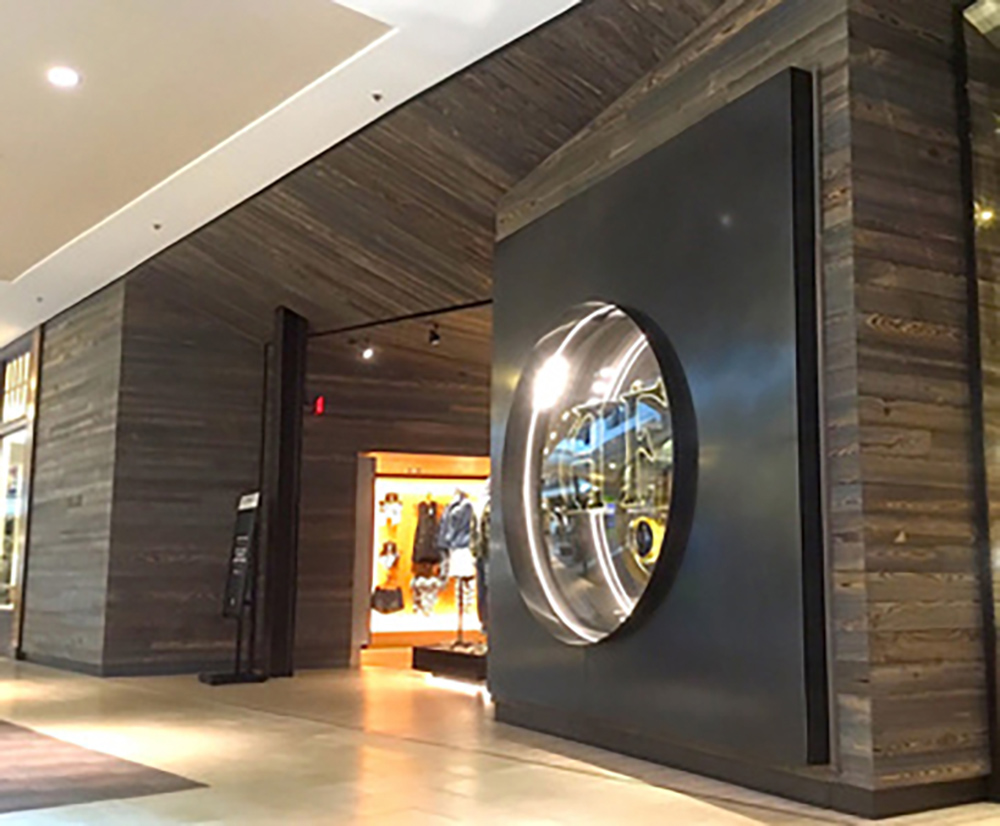 Cypress Select Paneling in Abercrombie Store